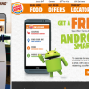 Burger King Launces App with Android Smartphones Marketing Partnership